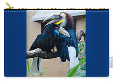Carry-all Pouch featuring the photograph Wreathed Hornbills by Donna Brown