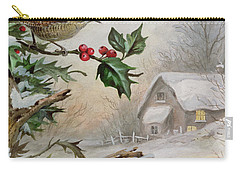 Wren In Hollybush By A Cottage Carry-all Pouch by Carl Donner