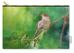 Wren In The Garden Bird Art Carry-all Pouch