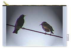 Carry-all Pouch featuring the photograph Wren Ya Goin Out Wit Me by Lenore Senior