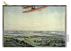 Wright Brothers - World's Greatest Aviators - Dayton, Ohio - Retro Travel Poster - Vintage Poster Carry-all Pouch
