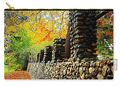 Wright Park Stone Wall In Fall Carry-all Pouch