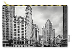 Carry-all Pouch featuring the photograph Wrigley Building Chicago by Adam Romanowicz