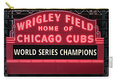 Wrigley Field Marquee Cubs World Series Champs 2016 Front Carry-all Pouch