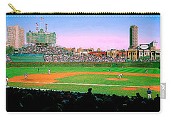 Carry-all Pouch featuring the photograph Wrigley Field  by Tom Jelen
