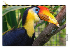 Wrinkled Hornbill Carry-all Pouch by Susanne Van Hulst