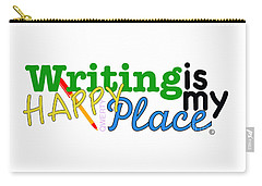 Writing Is My Happy Place Carry-all Pouch by Shelley Overton