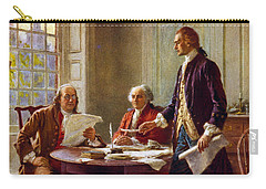 Writing The Declaration Of Independence, 1776, Carry-all Pouch by Leon Gerome Ferris