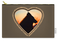 Wuffstar Happiness Is A Long Haired German Shepherd Heart Carry-all Pouch