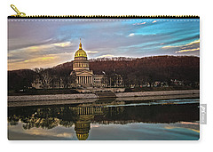 Wv State Capitol At Dusk Carry-all Pouch