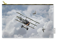 Carry-all Pouch featuring the photograph Ww1 - Fokker Dr1 - Predator by Pat Speirs