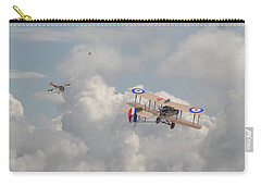 Carry-all Pouch featuring the photograph Ww1 - The Fokker Scourge - Eindecker by Pat Speirs