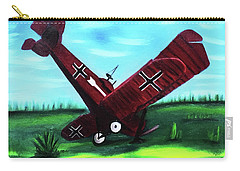 Wwi-biplane Carry-all Pouch