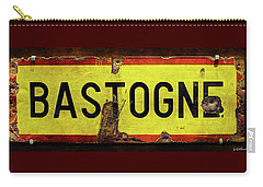 Wwii Bastogne Town Sign Carry-all Pouch
