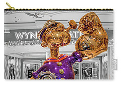 Wynn Popeye Statue Black White And Color By Jeff Koons Carry-all Pouch