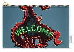 Wyoming Cowboy Vintage Neon Sign Carry-all Pouch