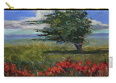 Carry-all Pouch featuring the painting Wyoming Gentle Breeze by Billie Colson