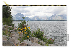 Wyoming Mountains Carry-all Pouch by Diane Bohna