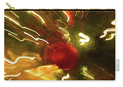 Carry-all Pouch featuring the photograph Xmas Burst 3 by Rebecca Cozart