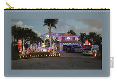 Xmas House Carry-all Pouch by Val Oconnor