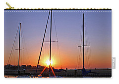 Carry-all Pouch featuring the photograph Yacht Club Sunrise by Judy Vincent