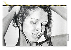 Carry-all Pouch featuring the drawing Yaha by Mayhem Mediums
