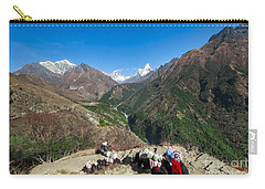 Yaks On The Route To Everest Carry-all Pouch