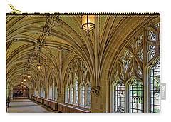 Carry-all Pouch featuring the photograph Yale University Cloister Hallway II  by Susan Candelario