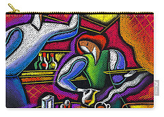 Carry-all Pouch featuring the painting  Yam Food And Drink by Leon Zernitsky