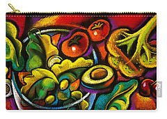 Yammy Salad Carry-all Pouch by Leon Zernitsky
