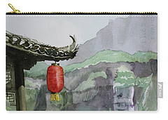 Carry-all Pouch featuring the painting Yangtze Lantern by Kris Parins