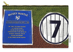 Yankee Legends Number 7 Carry-all Pouch by David Lee Thompson