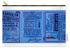 Carry-all Pouch featuring the drawing Yankee Stadium 1927 World Series Ticket Babe Ruth Game by Peter Gumaer Ogden