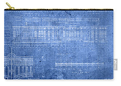 Yankee Stadium New York City Blueprints Carry-all Pouch by Design Turnpike