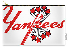 Carry-all Pouch featuring the digital art Yankees Vintage by Gina Dsgn