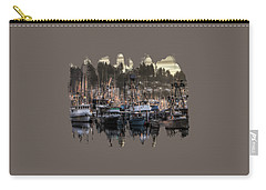 Carry-all Pouch featuring the photograph Yaquina Bay Boat Basin At Dawn by Thom Zehrfeld