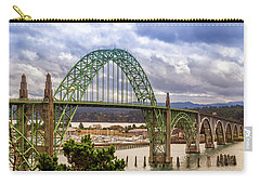 Carry-all Pouch featuring the photograph Yaquina Bay Bridge by James Eddy