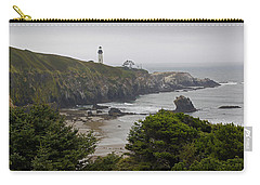 Yaquina Head Lighthouse View Carry-all Pouch by Mick Anderson