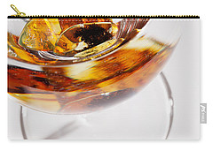 Carry-all Pouch featuring the photograph Yellow Amber Stones In A Glass. by Andrey  Godyaykin