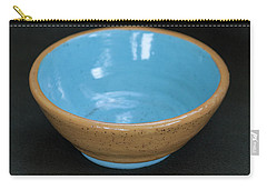 Yellow And Blue Ceramic Bowl Carry-all Pouch by Suzanne Gaff