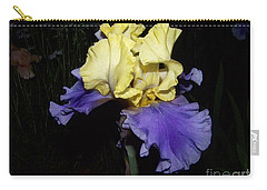 Yellow And Blue Iris Carry-all Pouch by Kathy McClure