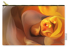 Yellow And Gold Abstract 050712 Carry-all Pouch