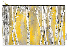 Yellow And Gray Birch Trees Carry-all Pouch