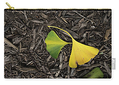 Yellow And Green Gingko Carry-all Pouch