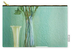 Yellow And Green Carry-all Pouch
