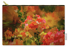 Carry-all Pouch featuring the digital art Yellow And Orange #h6 by Leif Sohlman