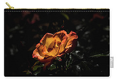 Yellow And Orange Carry-all Pouch