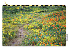 Yellow And Orange Wildflowers Along Trail Near Diamond Lake Carry-all Pouch by Jetson Nguyen