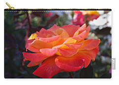 Yellow And Pink Rose Carry-all Pouch