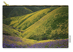 Yellow And Purple Wildlflowers Adourn The Temblor Range At Carrizo Plain National Monument Carry-all Pouch